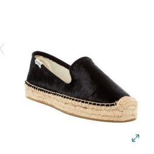 NEW soludos genuine calf hair platform espadrilles
